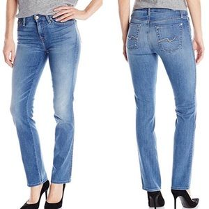 7 For All Mankind Karah Straight Leg Jeans Size 25